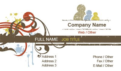 Sketched Family Business Card Template